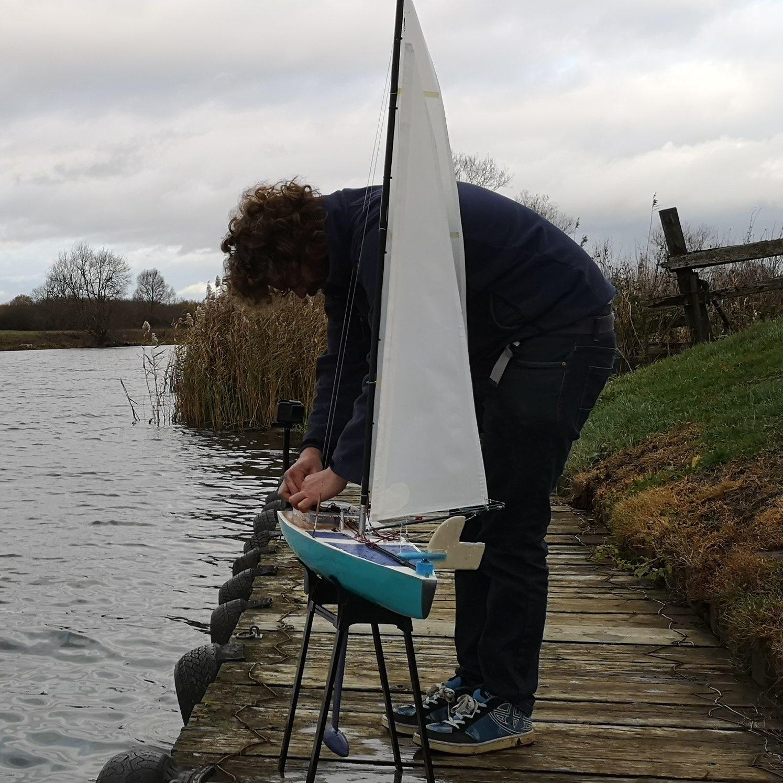 Pete Adjusting Yacht